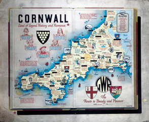 'Cornwall - Land of Legend  History and Romance'  GWR poster  1933.