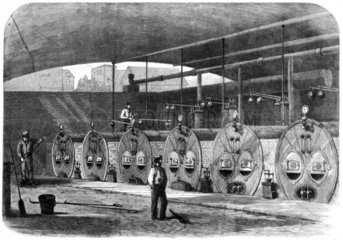 Boilers for 'Machinery in Motion' display  International Exhibition  London  1862.