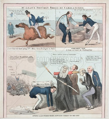Satirical images of contemporary politicians  c 1830s.