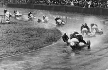 Motorcycle race  Oulton Park  Cheshire  August 1966.