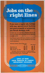 'Jobs on the Right Lines'  BR poster  1948-1965.