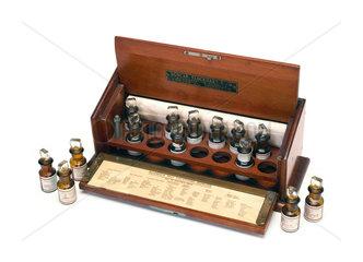 Skin testing set for allergies  1871-1930.