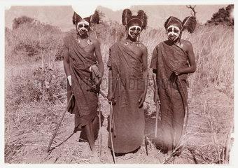 Three African tribesmen  c 1905.