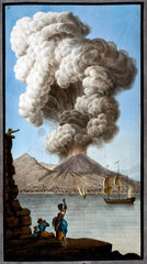 An eruption of Mount Vesuvius as seen from Posillipo  Kingdom of Naples  9 August 1779.