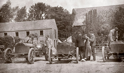 Three Gordon Bennett Napier motor cars  1903.
