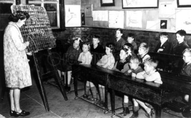 Classroom scene at Llawrybetws School  Merioneth  Wales  c 1930s.