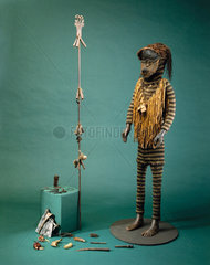 Medicine man's outfit  African  c 1890-1920.