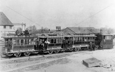 Wantage Tramway Company steam tram engine No 6  c 1892.