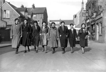 Women hunger marches  23 February 1934. Hun