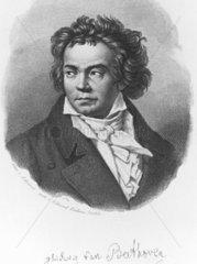 Ludwig van Beethoven  German composer  c 1800.