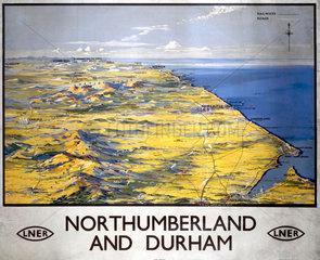 'Northumberland and Durham'  LNER poster  1923-1947.
