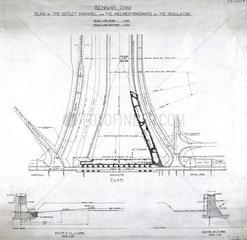 Plan of the Sennar Dam  Sudan  1925.