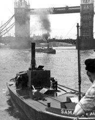 Cargo vessels near Tower Bridge  London  27