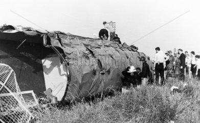 Rail accident  Waverton  Cheshire  1971.