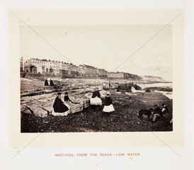 'Hastings  From The Beach - Low Water'  1864.
