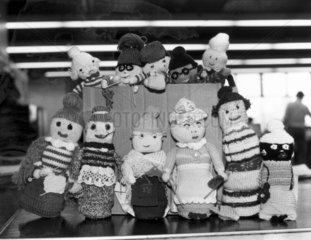 Knitted dolls  February 1981.