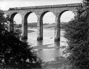 The Royal Border Bridge viaduct at Berwick-