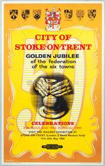 'Golden Jubilee Celebrations  City of Stoke-on-Trent'  1960.
