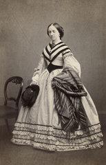 Victorian woman  mid-19th century.