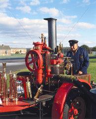 Vertical steam engine  1920s.
