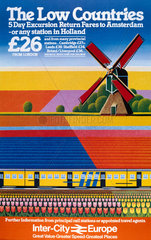 'Inter-City Europe  The Low Countries'  BR poster  1982.