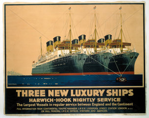 'Three New Luxury Ships'  LNER poster  1935.