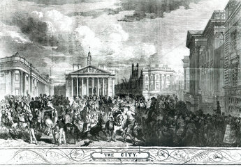 View of Mansion House  City of London  1851.