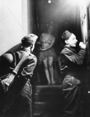 Soldiers at the stage door  Second World War  c 1939-1945.