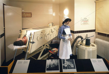 Iron lung display  1950s.