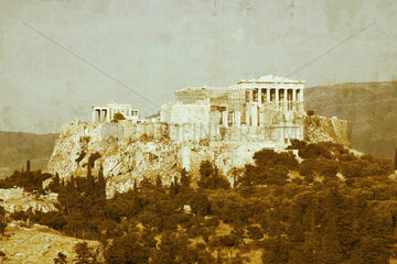 The Acropolis seen from the Pnyx  Athens  2004.
