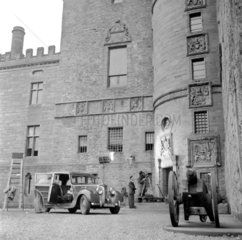 Filming at Glamis Castle  Angus  Scotland  1951.