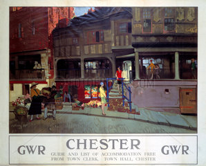 'Chester'  GWR poster  c 1920s.