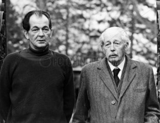 Harold Macmillan with his son Maurice  March 1974.
