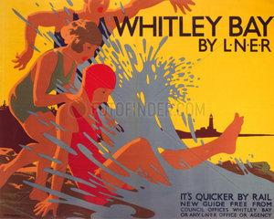 'Whitley Bay by LNER'  LNER poster  c 1930s.