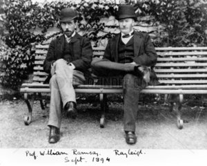 Sir William Ramsay and Lord Rayleigh  1894.