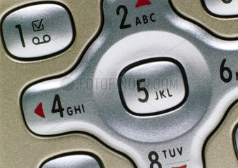 Detail of Philips 'Fiscio 820' mobile phone  2003.