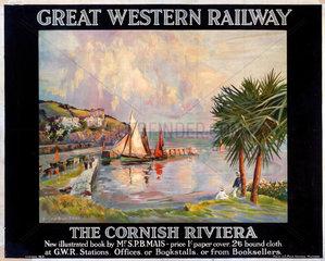 'The Cornish Riviera'  GWR poster  1923-1942.