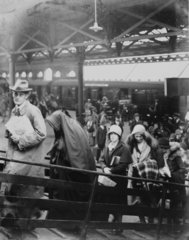Passengers embarking at Holyhead  1931.