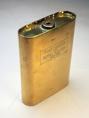 Brass footwarmer from the GWR royal saloon  used from c 1860-1901.