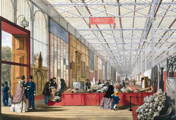 Mining stand at the Great Exhibition  Crystal Palace  London  1851.