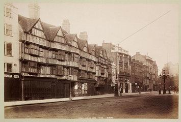 'Staple Inn  Holborn'  c 1890.