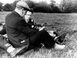 Jarrow March  1936. unemployed men from Jar