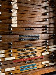 Dr J C Wagner's slide cabinet  1950-1991.