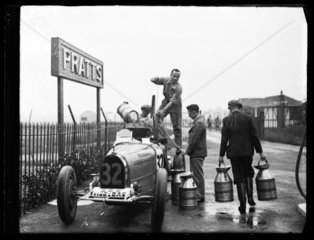 Motor racing at Brooklands  1932.