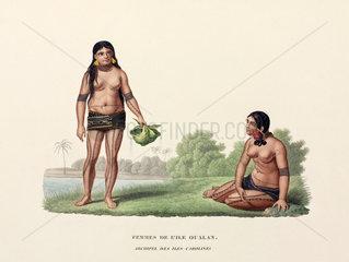 Women of the Caroline Islands  (now Micronesia)  1822-1825.