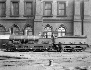 Manchester  Sheffield & Lincolnshire Railway 0-6-0 locomotive  c 1880.