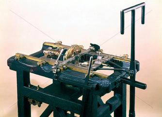 Bramah sawing machine  c 1788.