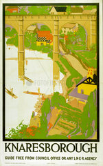 'Knaresborough'  LNER poster  1923-1947.