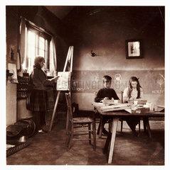 Children in a classroom  c 1905.