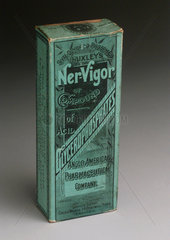 Box containing a bottle of 'Ner-Vigor'.